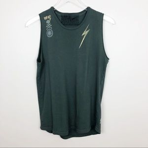 SoulCycle x FreeCity | Graphic Tank Top Green XS